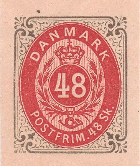 Denmark_1870_48sk_Essay_Reprint