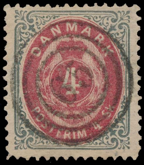 Denmark_1870_Bicolored_4sk_Genuine