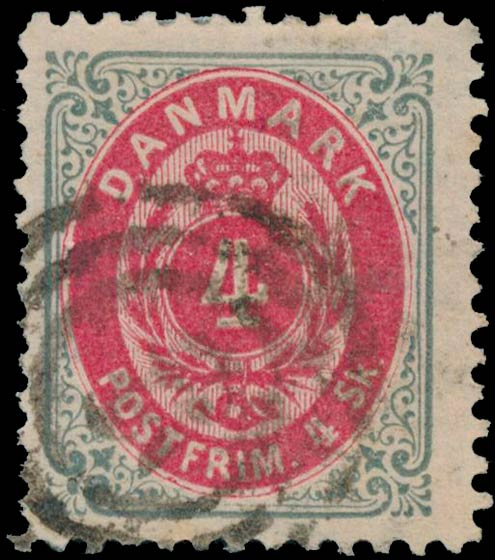 Denmark_1870_Bicolored_4sk_Line_perforated