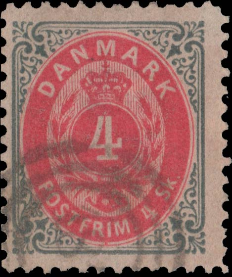 Denmark_1870_Bicolored_4sk_Reperforated