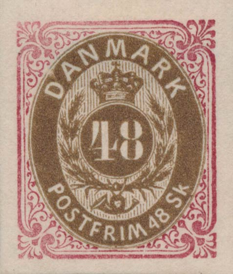 Denmark_1870_48skilling_Essay4_Genuine