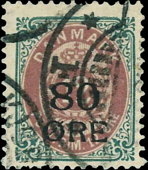 Denmark_1915_Bicolored_80øre_overprint_forgery