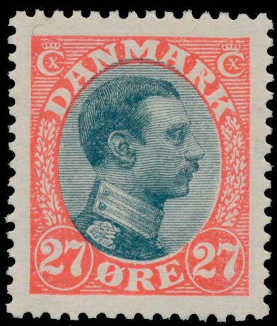 Denmark_1918_27ore_KingChristianX_Genuine
