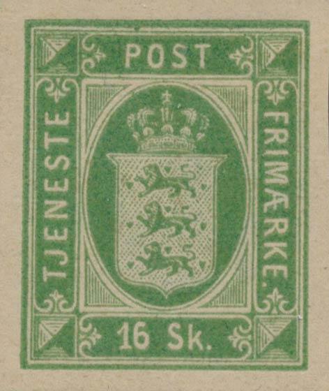 Denmark_Official_1871_16sk_Unperforated_Genuine