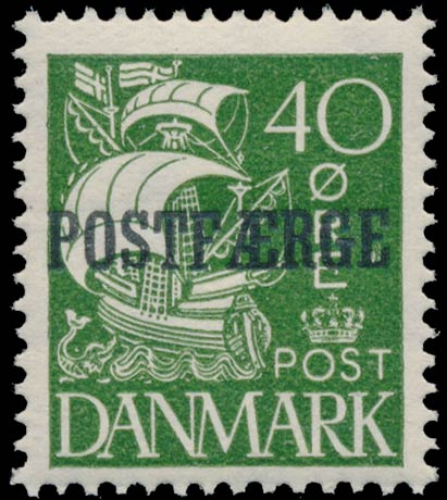 Denmark_PostFerry_1930_40ore_Genuine