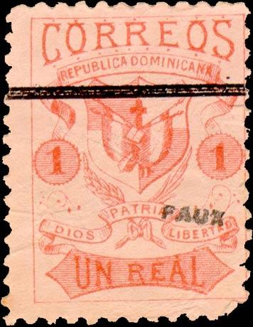 Dominican_Republic_1879_Un-2_Fournier_Forgery