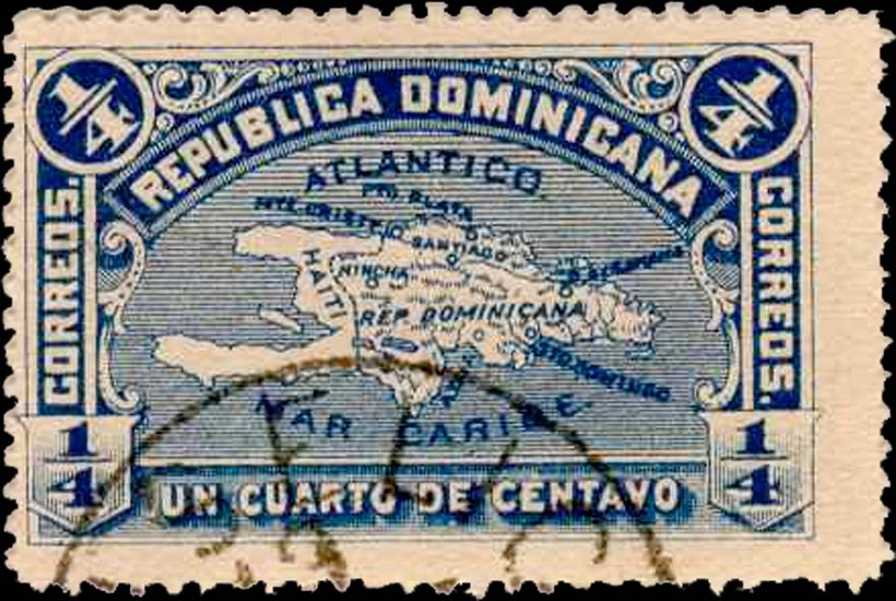 Dominican_Republic_1900_1-4c_Genuine