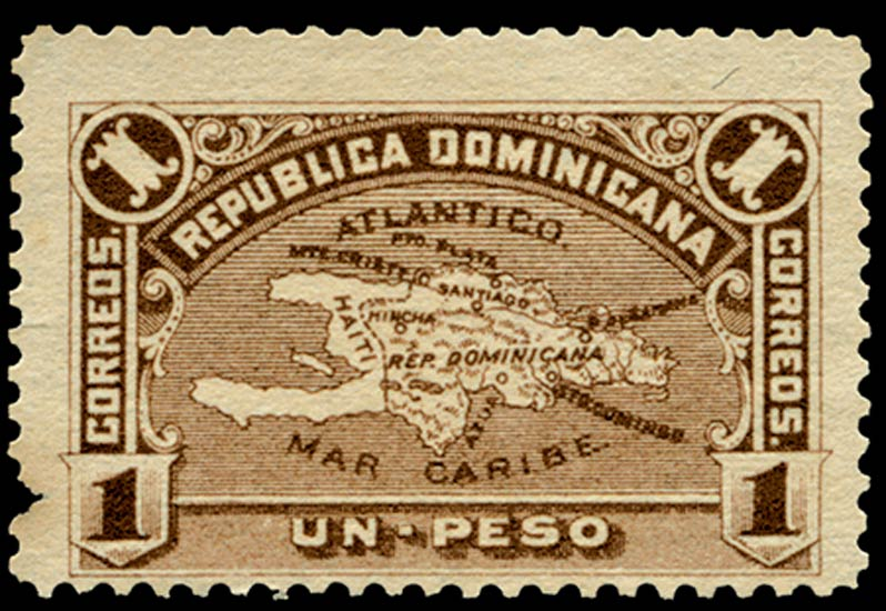 Dominican_Republic_1900_Map_1p_Genuine