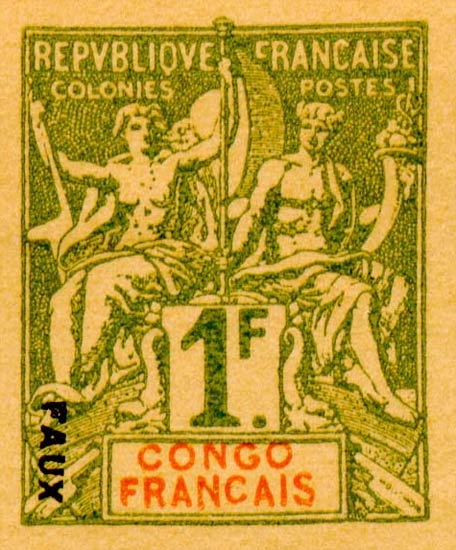 French_Congo_1892_1f_Hirschburger_Forgery