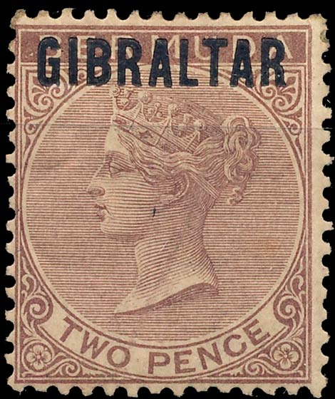 Gibraltar_1886_QV_2p_Genuine