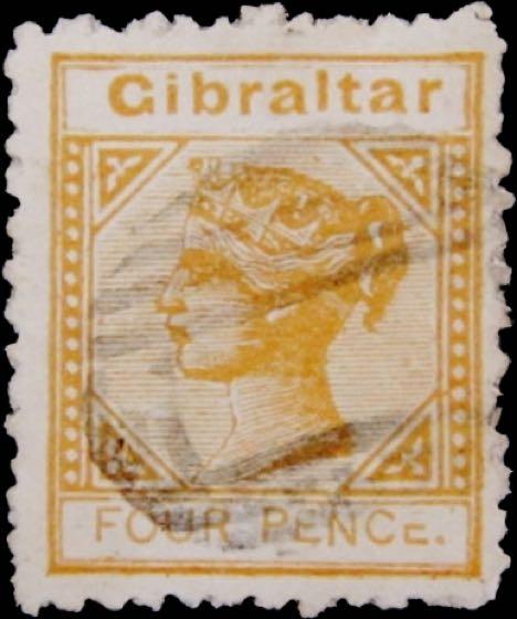 Gibraltar_1886_QV_4p_SG12_Forgery
