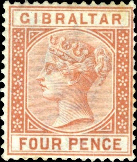 Gibraltar_1886_QV_4p_SG12_Genuine