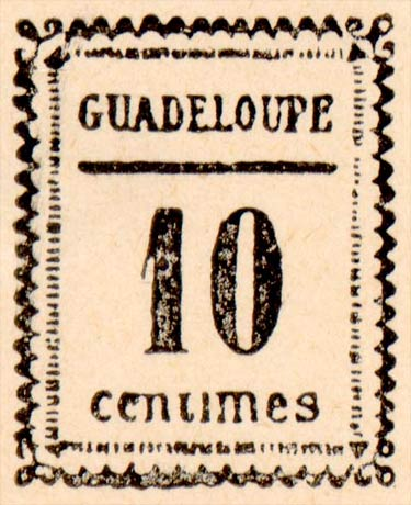 Guadeloupe_10centimes_Fournier_Forgery_Overprint