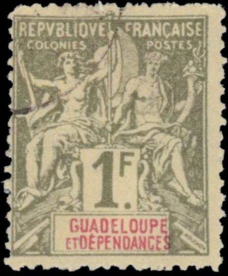 Guadeloupe_1892_1f_Hirschburger_Forgery2