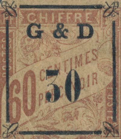 Guadeloupe_G-D-30_Overprint_Genuine