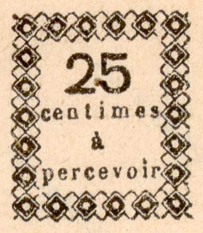 Guadeloupe_Postage_Due_25centimes_Fournier_Forgery