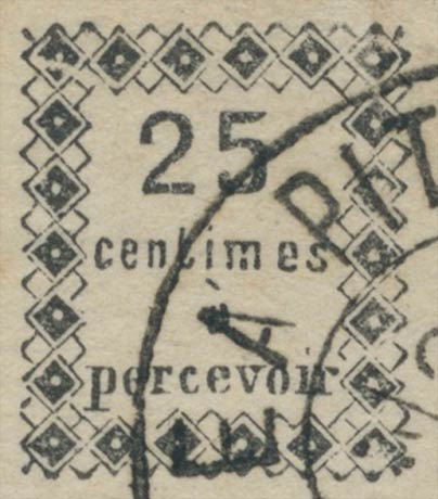Guadeloupe_Postage_Due_25centimes_Genuine