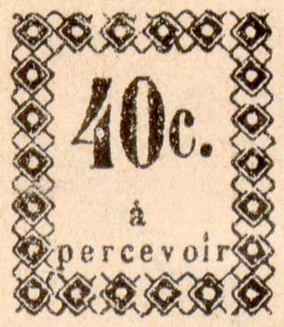 Guadeloupe_Postage_Due_40centimes_Fournier_Forgery