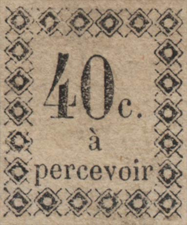 Guadeloupe_Postage_Due_40centimes_Genuine