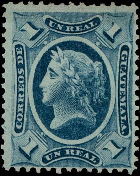 Guatemala_1875_Liberty_1r_Genuine