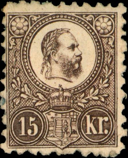 Hungary_1871_15kr_Genuine