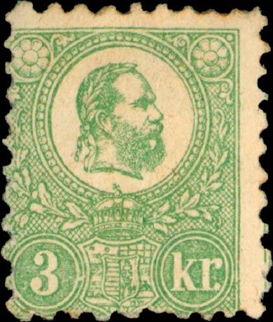 Hungary_1871_3kr_Genuine