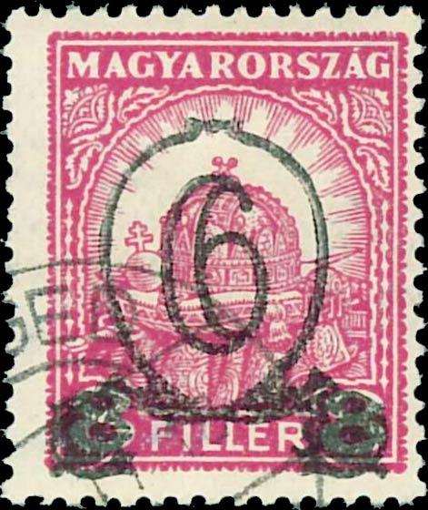 Hungary_1930_Crown_6f_overprint_Forgery