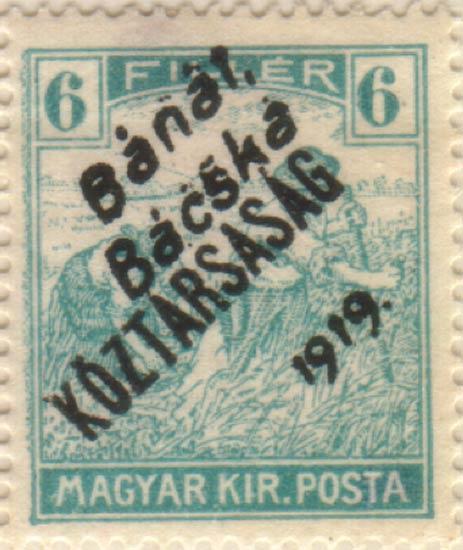 Hungary_Banat_Bacska_Koztarsasag_6f_Szekula_Forgery