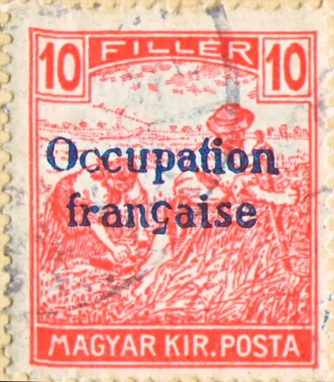 Hungary_French_Occupation_10f_Forgery