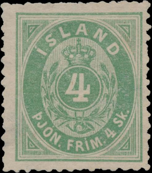 Iceland_1873_Official_4sk_Genuine