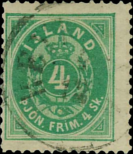 Iceland_1873_Official_4sk_Reperforated