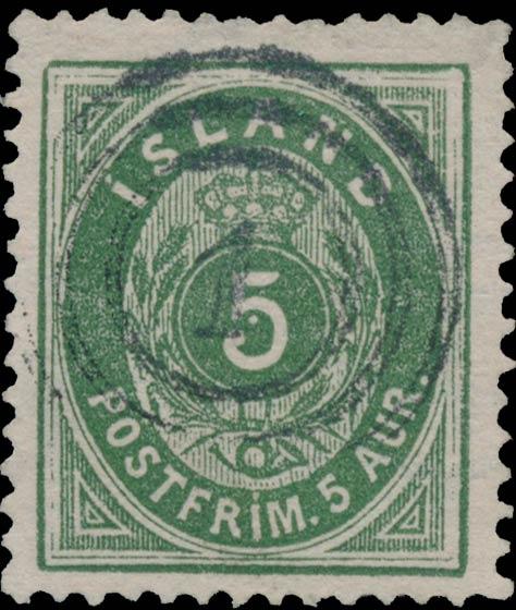 Iceland_1876_5aur_Genuine