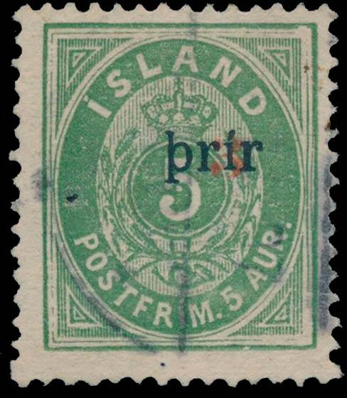 Iceland_1897_5aur_3prir_Surcharge_II_Genuine