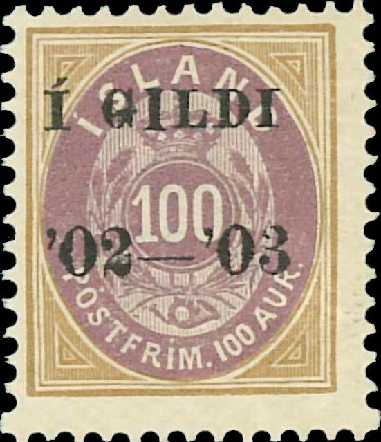 Iceland_1902_Gildi_100aur_1904_Bern_Reprint