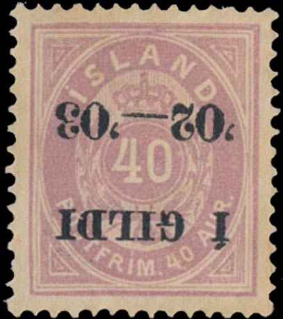Iceland_1902_Gildi_40aur_Inverted_Overprint_Forgery