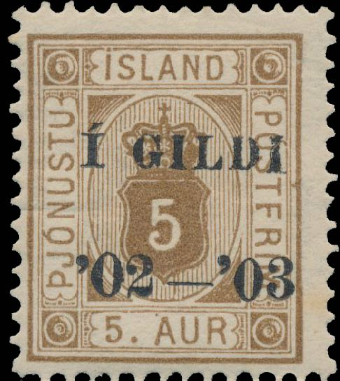Iceland_1902_Official_5aur_Gildi_Genuine