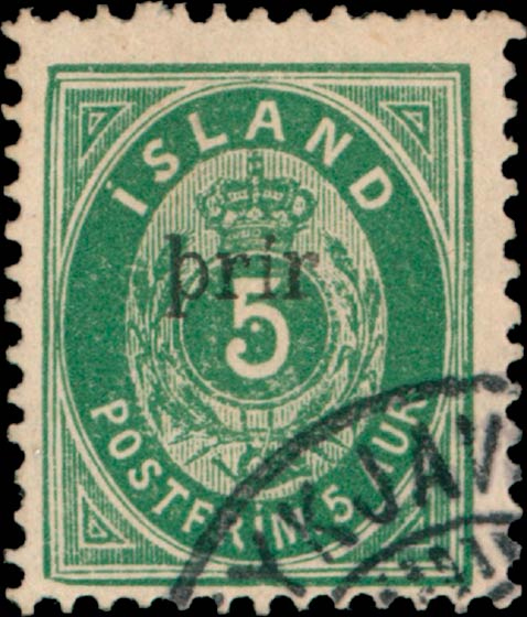 Iceland_5ore_Prir_small_surcharge_Genuine
