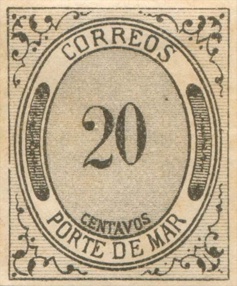 Mexico_1875_Porte_De_Mar_20c_Forgery