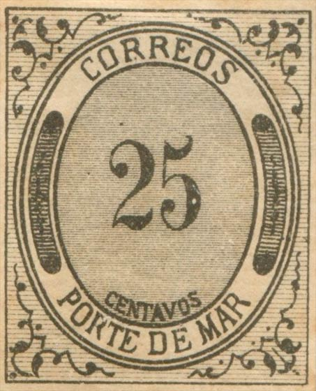 Mexico_1875_Porte_De_Mar_25c_Forgery