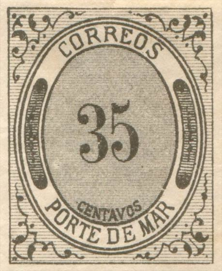 Mexico_1875_Porte_De_Mar_35c_Forgery