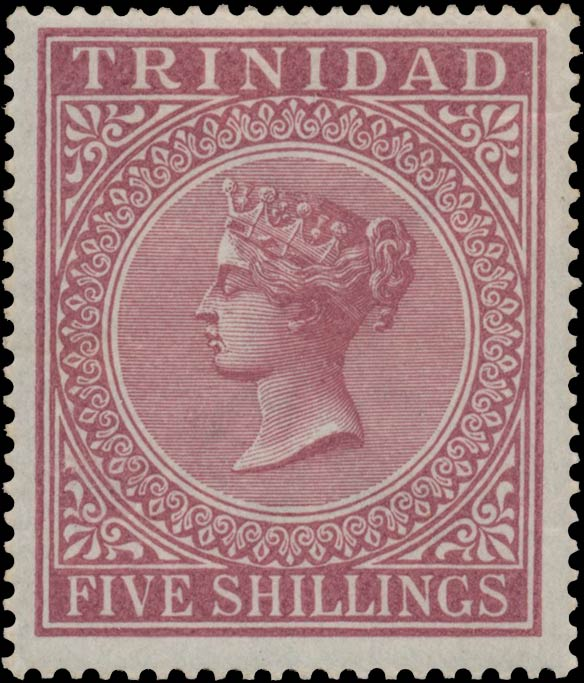 Trinidad_1869_QV_5sh_red_Genuine