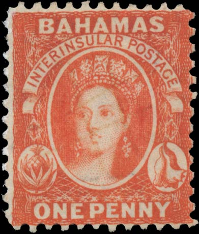 Bahamas_1861_QV_1d_Genuine