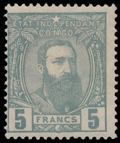 Belgian_Congo_1887_5f_Genuine1