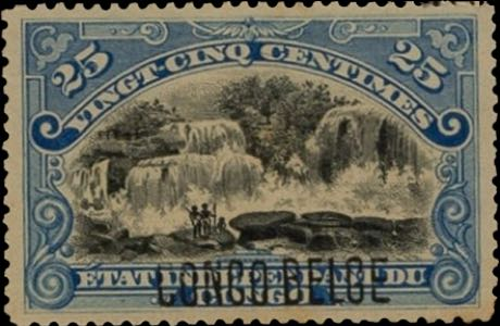 Belgian_Congo_1909_Congo-Belge_Overprint_25c_Forgery