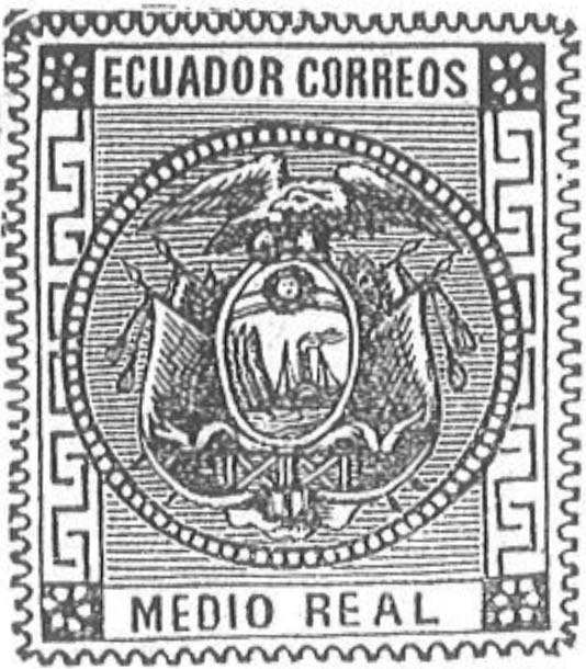 Ecuador_1872_Coat-of-Arms_Medio_Real_Torres_illustration