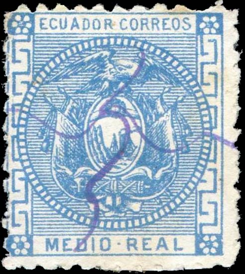 Ecuador_1872_Medio_Real_Genuine
