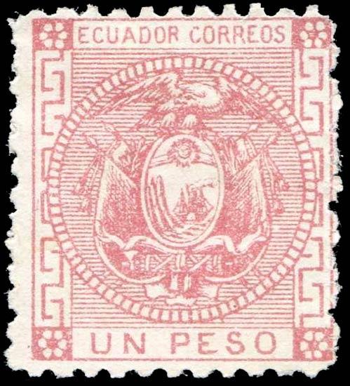 Ecuador_1872_Un_Peso_Genuine