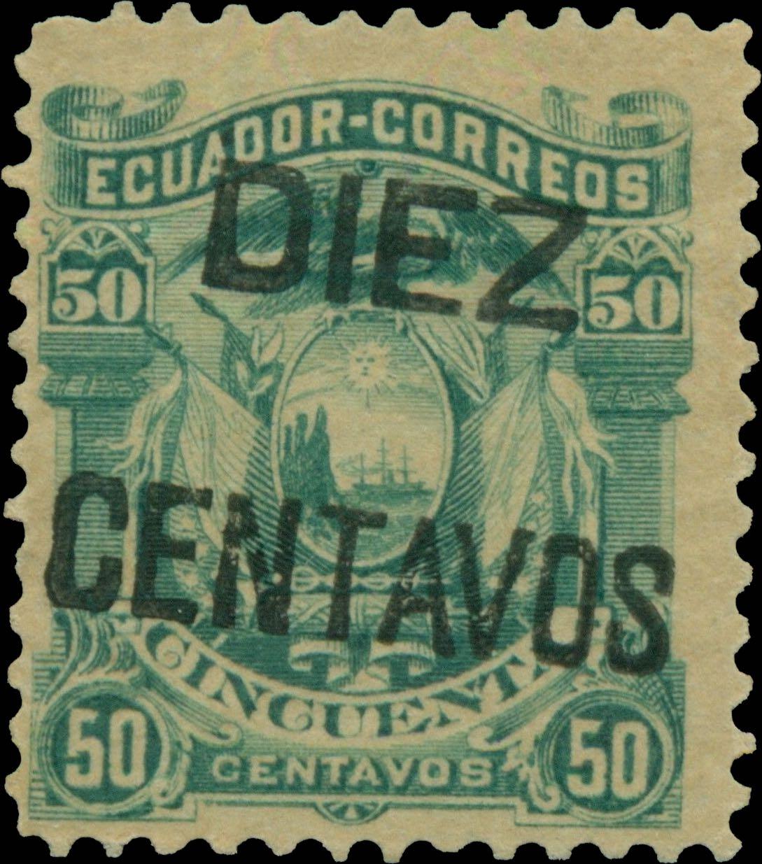 Ecuador_1883_Diez_Centavos_overprint_Forgery1