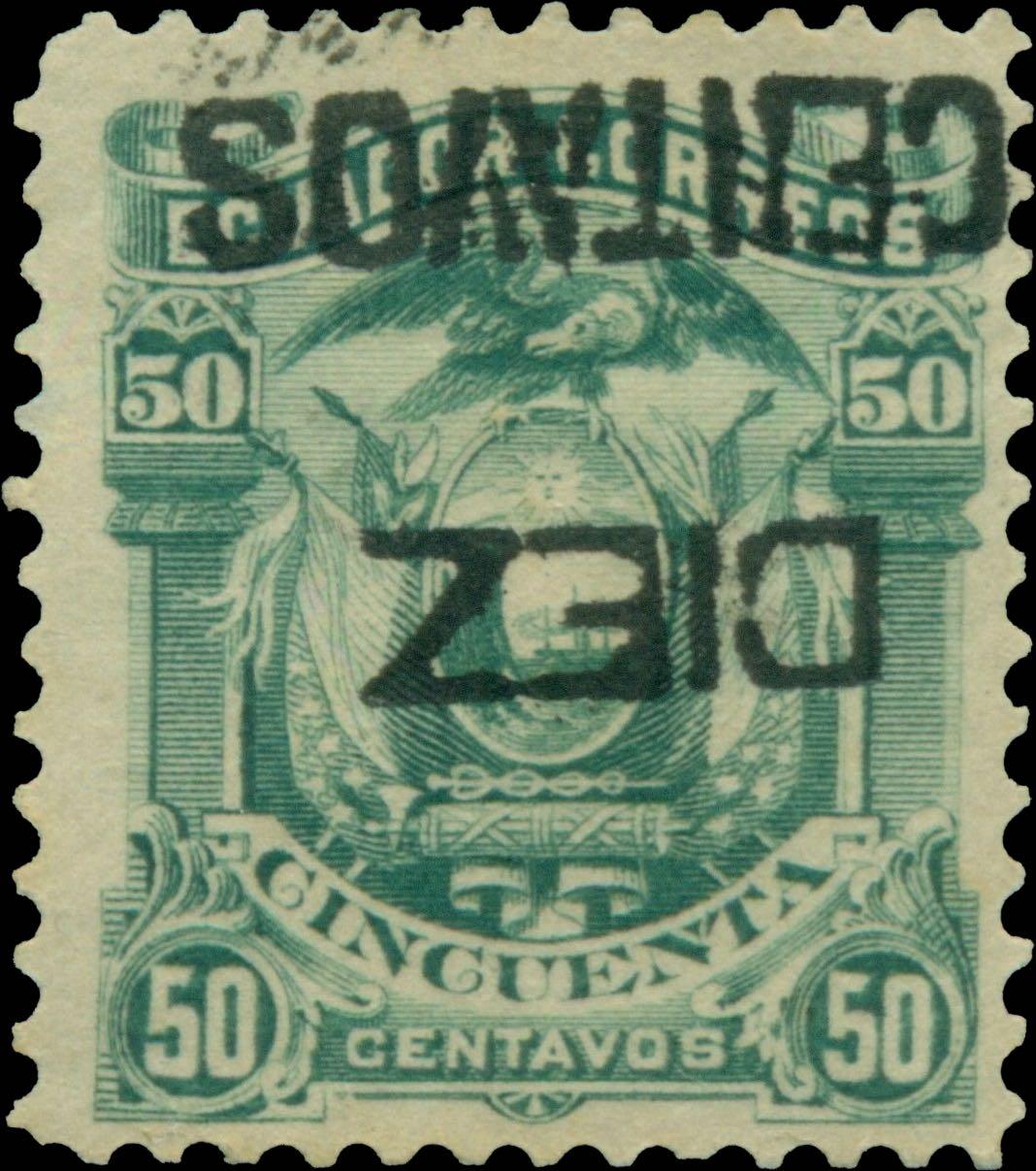 Ecuador_1883_Diez_Centavos_overprint_Forgery2