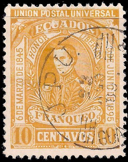 Ecuador_1896_10c_Genuine